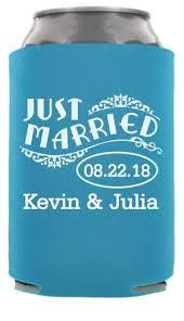 totally wedding koozies coupon code just married wedding can cooler quote totallyweddingkoozies