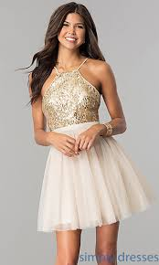a line tulle homecoming dress with sequins