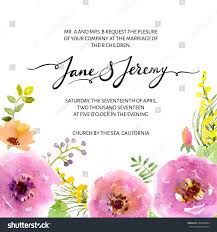 Church Invite Cards Template Wedding Invitation Template Vector Watercolor Flower Stock Vector