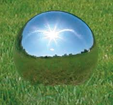 gazing balls outdoor kits 4 stainless steel gazing silver