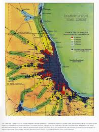 Chicago Loop Map by Metropolitan Chicago Settlement Densities