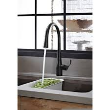 kohler black kitchen faucets kohler k 596 bl simplice matte black pullout spray kitchen faucets