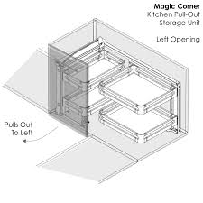 elite magic corner pull out kitchen storage unit for 549 95 in