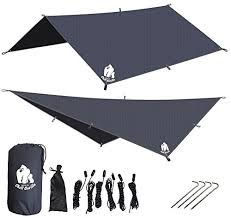 new chill gorilla 10 u2032 super fly grey waterproof tent tarp rain