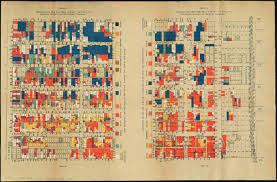 Chicago Street Map by Nationalities Map No 1 Polk Street To Twelfth Halsted Street