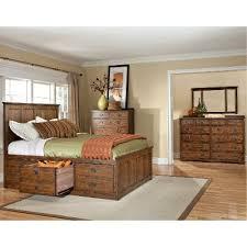 Storage Bed Sets King Mission Oak 7 King Storage Bedroom Set Oak Park Rc