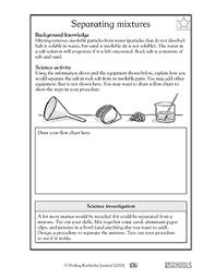 5th grade science worksheets separating mixtures 2 greatschools