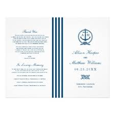 Nautical Wedding Programs Nautical Wedding Event U0026 Accommodation Inserts Flyer Zazzle Com