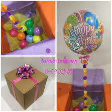 birthday balloons in a box happy birthday balloon in a box with one of our made