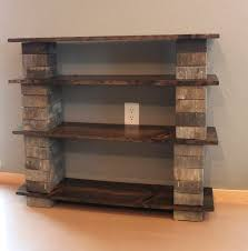 Basic Wood Bookshelf Plans by Diy Concrete Block Bookshelf Concrete Woods And Craft