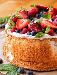 Angel Decorated Cake Classic Angel Food Cake Life Made Simple