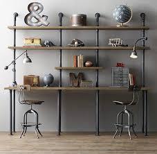 pipe au bureau 23 idées de bureau au style industriel moderne house étagères