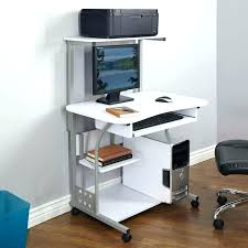 Compact Computer Desk Small Desk With Wheels Interque Co