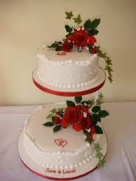 ruby wedding anniversary cake with sugar flowers for lione u2026 flickr