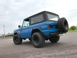 jeep blue and black 1969 ford bronco maxlider brothers customs