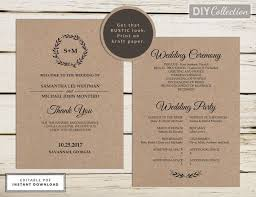 kraft paper wedding programs 93 best rustic wedding images on templates free