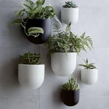 planters that hang on the wall ceramic wallscape planters west elm uk modern prairie