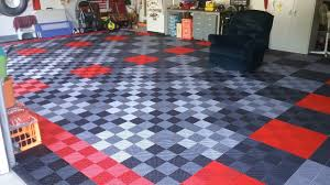 levant pattern garage tiles bruce s black red graphite and alloy ribbed garage floor garage