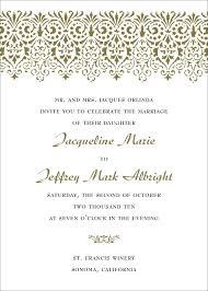 wedding invitation format exle of wedding invitations format wedding invitation sle