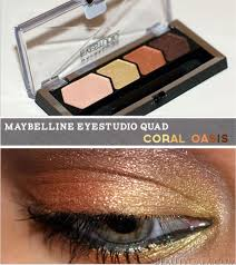 maybelline eye studio color plush eyeshadow coral oasis
