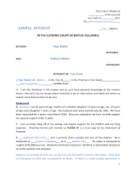 Child Support Letter Agreement Affidavit Templates Example Mughals