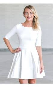 fit and flare dress ivory dress ivory three quarter sleeve dress ivory a line