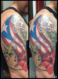 awesome sleeve tattoo puerto rican flag tattoos designs puerto rican flag tattoo