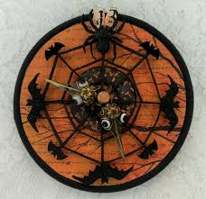 artfully musing halloween blog party u2013 13th hour clock giveaway
