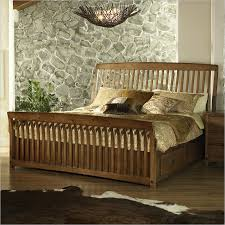 Sleigh Bed With Drawers Craftsman Sleigh Bed With Storage Drawers In Warm Blonde Finish Beds