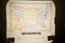 New Map Of United States After 2012 redbirdblue pinterest challenge chalk board map