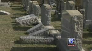 cemetery headstones dozens of headstones vandalized at cemetery in philadelphia