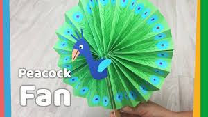 easy paper crafts peacok fan easy summer craft for kids youtube