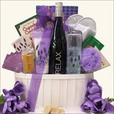 wine baskets relaxing s day wine spa gift baskets the all