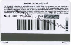gift card company ordering information yankee candle