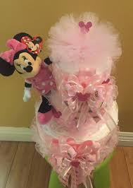 baby minnie mouse diaper cake baby shower gift minnie mouse