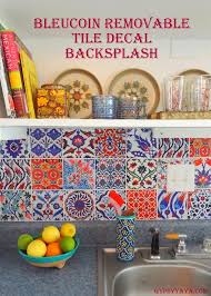 removable kitchen backsplash bleucoin tile decal backsplash tile decals turkish tiles and