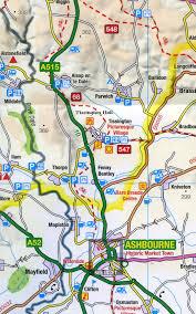 Derbyshire England Map by District U0026 Derbyshire Os Tour Map