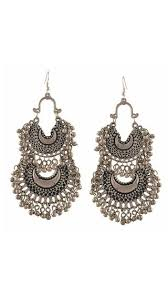 chandbali earrings buy urbanela german silver chandbali earrings ader06 online at low