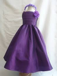 new sp7 dark purple children pageant flower dress size 1 2 4