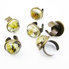 antique brass adjustable terrarium dome ring u2022 size 5 15