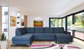 canap en l canapé en u maxou bleu marine