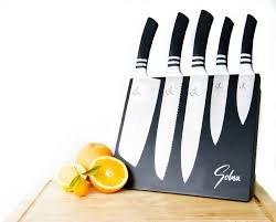 amazon com solna concept 5 piece stainless steel knives set with