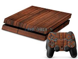 cool wood grain sticker for playstation 4 ps4 console controller