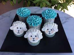 sugar chef lamb theme baby shower cupcakes