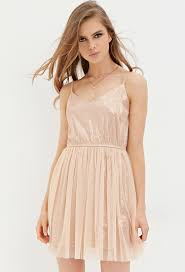 forever 21 sequin tulle dress in pink lyst