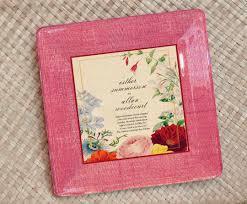 wedding invitation plate keepsake botanical wedding invitation plate keepsake for couples gift