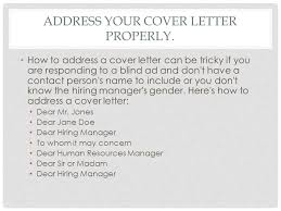gallery of cover letter without name apa examples how to address