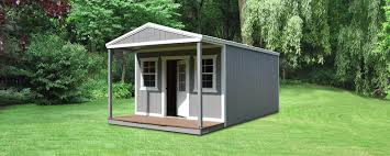 Backyard Cabin by Elite Cabin With Standard Front Porch Bennett Building Systems