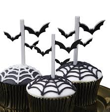 bat halloween party cupcake and food toppers by ginger ray
