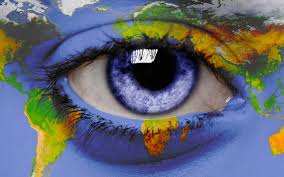 Personal World Map by Open Human Eye With World Map Photo And Desktop Wallpaper